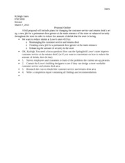 Proposal Outline ENG 3000