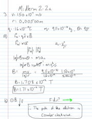 Midterm 2B Solutions
