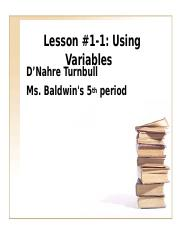 Algebra Lesson plan (1)