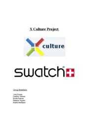 Essay-Globalizing Swatch watch company (group paper)