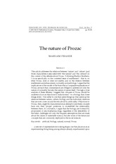 Fraser, M - Nature of Prozac, (2001) 143 Hist Human Sciences 56