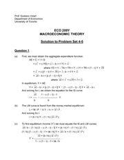 ECO 209Y Fall 2013 Problem Set 4 Solutions