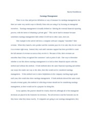 Earnings Management Paper