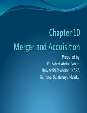 Chapter 10 Merger and Acquisitions.ppt