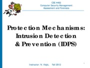 CSE 4482 2013 Intrusion Detection