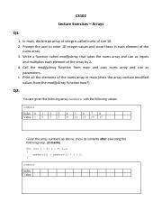 Lecture Exercises - Arrays.pdf