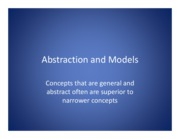 Abstraction and Models
