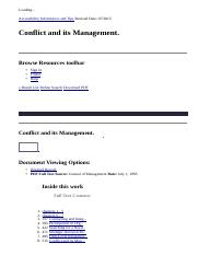 Conflict and its Management._ EBSCOhost.html