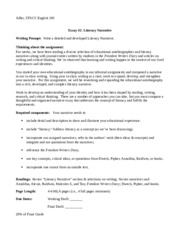 STACC English ESSAY 2 Literacy Narrative (1)