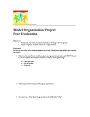 Model Organization Peer Evaluation