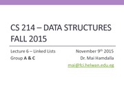 CS214_Fall2015_LN6_LinkedLists