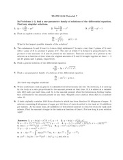 Math 2132 Tutorial 7 and 8
