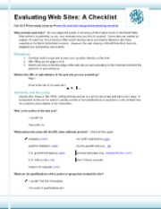 Evaluating Web Pages Checklist.pdf