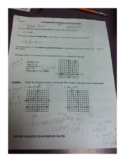 Precalculas Section 3.1 Worksheet