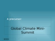Climate Summit ppt