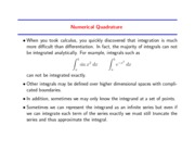 Study Guide on Numerical Quadrature