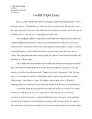 twelfth night documents course hero twelfth night essay