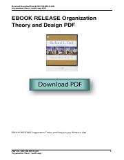 Organization Theory And Design Pdf Pdf Read And Download Ebook Ebook Release Organization Theory And Design Pdf Ebook Release Organization Theory And Course Hero