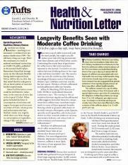 health benefits.pdf - Tufts lAAlth U N I V E R S I T Y Gerald J and Dorothy R Friedman School of Nutrition Science and Policy FEBRUARY 2 0 1 6 VOL 33 NO