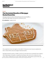 The Overlooked Benefits of Mortgage-Backed Securities _ Institutional Investor.pdf