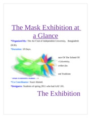 The Mask Exhibition at a Glance