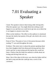 7.01 Evaluating a Speaker.docx