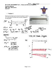 Fall 2017 BME 3200 In-ClassActivity_21_Shear and Moment Diagram Functions Method Solution.pdf