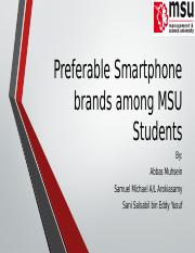 Preferable Smartphone brands among MSU Students
