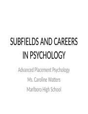 AP Psych Subfields and Careers_Revised