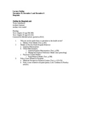 Lecture Outline 11.29.11
