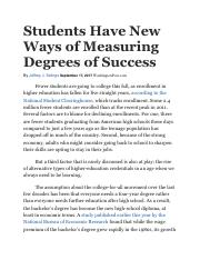 Students Have New Ways of Measuring Degrees of Success.pdf