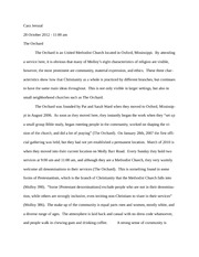 Site Visit Essay - The Orchard