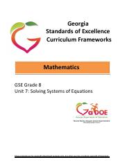 Coordinate-Algebra-Unit-2 - Georgia Standards of Excellence