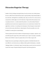 Discussion Rogerian Therapy.docx