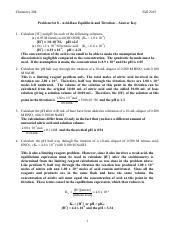 PS 8 - Answer Key - Chemistry 20L Fall 2015 Problem Set 8 ...