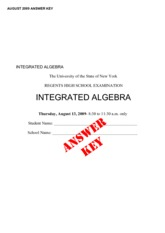 Integrated Algebra Practice Exam 3 with Answers