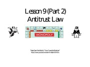Lesson 9B Antitrust