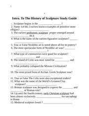 History of Sculpture Study Guide