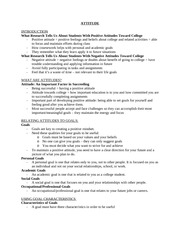 EDP310-Attitude Book Notes