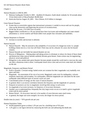 ES 140 Natural Disasters Book Notes