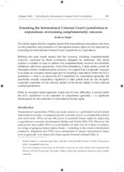 Extendingthe ICC'sJurisdiction.Haigh