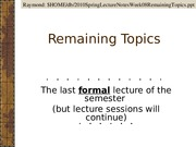 Lecture Notes Week 08