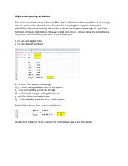 Sample Problems and Calculations