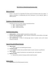 MGT 3501 Ch. 7 Manufacturing Processes Notes.docx