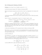 STATS 110 Fall 2014 Homework 8 Solutions