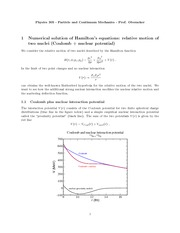 Physics 305_Lecture Notes on Hamilton's Equations