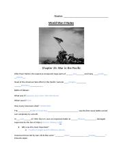 Copy of WWII Notes- War in the Pacific and War on the Homefront..docx