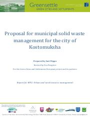 Proposal for municipal solid waste management for the city of Kostomuksha