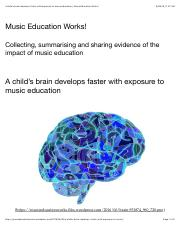 A child's brain develops faster with exposure to music education _ Music Education Works!