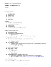 CMS.300 Session 14 Lecture Outline